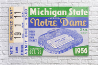 1956 Michigan State vs. Notre Dame  Acrylic Print