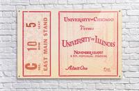 1927 Chicago vs. Illinois   Acrylic Print