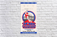 1984 NBA All-Star Game Ticket  Acrylic Print