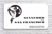 1933 Stanford vs. San Francisco American Football  Acrylic Print