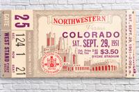 1951 Northwestern vs. Colorado  Acrylic Print