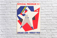 1964 Chicago Cubs Scorecard Wall Art  Acrylic Print