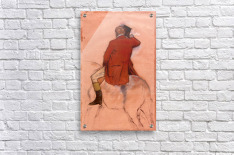 Rider with red jacket by Degas  Acrylic Print