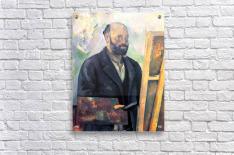 Self-portrait with Pallette by Cezanne  Acrylic Print