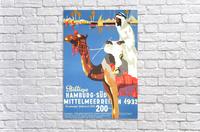 Hamburg-Sud Billige Mittelmeerreisen Original Poster  Acrylic Print