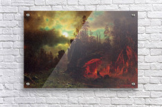 Trapper s camp by Bierstadt  Acrylic Print