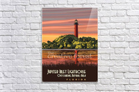 Jupiter Inlet Lighthouse, Vintage Florida Travel Reproduction  Acrylic Print