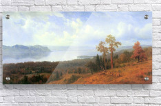 View of the Hudson River Vally by Bierstadt  Acrylic Print