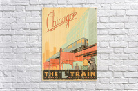 Chicago L Train Vintage Art Poster  Acrylic Print