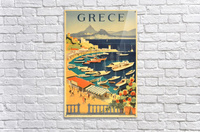 Greece original vintage travel poster  Acrylic Print