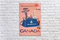 Vintage Toronto travel poster  Acrylic Print