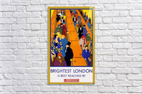 Brightest London travel poster  Acrylic Print