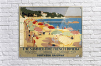 The Summertime French Riviera Southern Railway travel poster  Acrylic Print