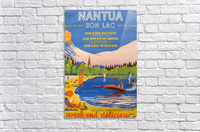 Vintage French Travel Poster for Nantua  Acrylic Print