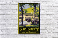 Great Western Railway Somerset travel poster  Acrylic Print