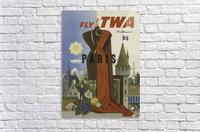 Fly TWA Paris Tourism Poster  Acrylic Print