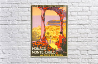 Monaco Monte Carlo 1920 vintage poster  Acrylic Print