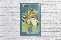 SAS Pleasant Scandinavia Airline Poster  Acrylic Print