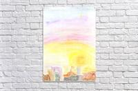 Sunset over the city  Acrylic Print