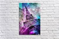 Pop Art Eiffel Tower  Impression acrylique