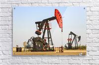 Oil well pump jacks at Bakken Oil Field near Estevan; Saskatchewan, Canada  Acrylic Print