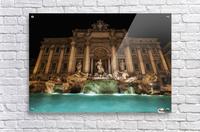 Trevi fountain illuminated at nighttime; Rome, Italy  Acrylic Print
