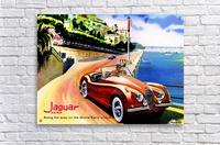 Jaguar Advertising Vintage Poster  Acrylic Print
