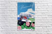 Bermuda Beach vintage travel poster  Acrylic Print