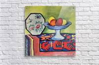 Still life with apple peel and a Japanese fan by August Macke  Acrylic Print