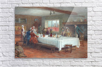 A meal stop at a coaching inn  Acrylic Print