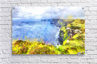 CLIFFS OF MOHER 1 WATERCOLOR  Acrylic Print