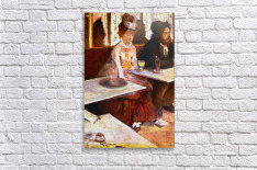 Absinthe Drinkers by Degas  Acrylic Print