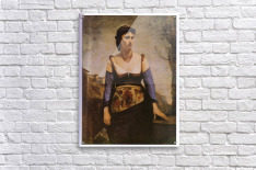 Agostina 1866 by Corot  Acrylic Print