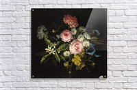 Bouquet of Chamomile, French roses and other flowers  Acrylic Print