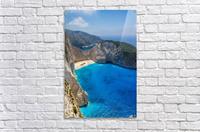 Navagio beach with shipwreck and flowers on Zakynthos island in Greece  Acrylic Print