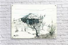 Hut on hill  Acrylic Print