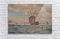 Ship along the line off the coast, 1875  Acrylic Print