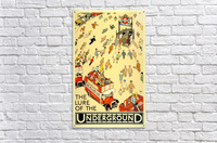 Vintage Travel Poster London Underground  Acrylic Print