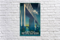 Vintage travel poster for Danish State Railways  Acrylic Print