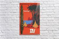 Nouvelle Caledonie TAI vintage travel poster  Acrylic Print