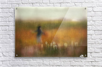 A Girl and Bear grass  Acrylic Print