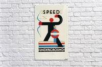 London Speed Underground poster  Acrylic Print