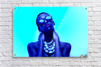 Blue Black  Acrylic Print