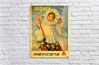 Oaxaca Mexico 1969 travel poster for Mexicana Airlines  Acrylic Print