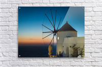 Mills Oia Night  Acrylic Print