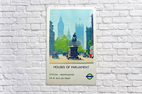 London Underground Houses of Parliament  Acrylic Print
