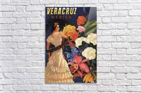 Veracruz Mexico Vintage Tourism Poster, 1940  Acrylic Print