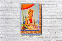 Java and Bali travel poster  Acrylic Print
