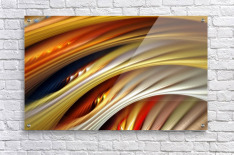 Colors Stripes Abstract Background Strings  Acrylic Print