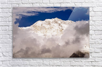 Aerial View Of Mountains, Annapurna Sanctuary, Nepal  Acrylic Print